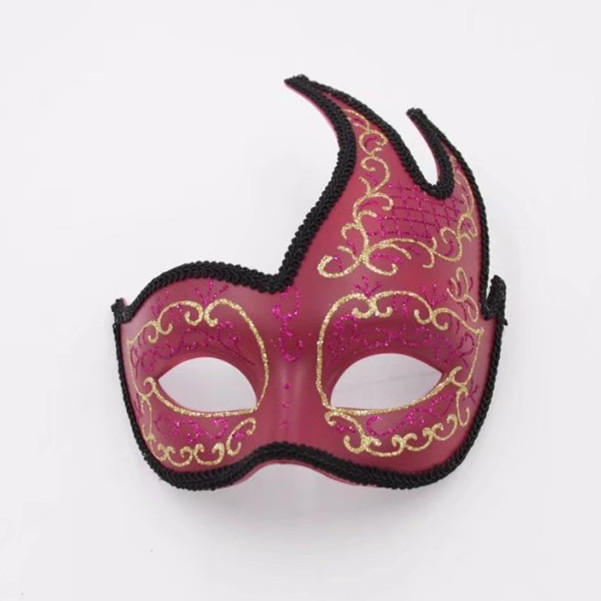 Vintage Wine Gold Lined Fancy Mask