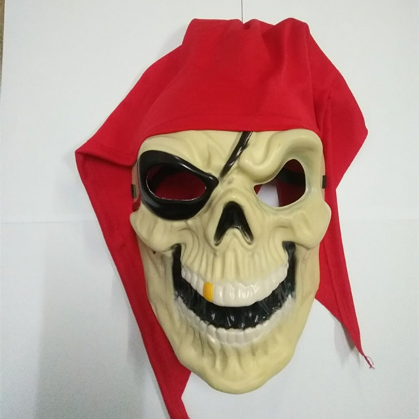Eerie Red Pirate Full Face Skull Mask For Pirate Themed Party