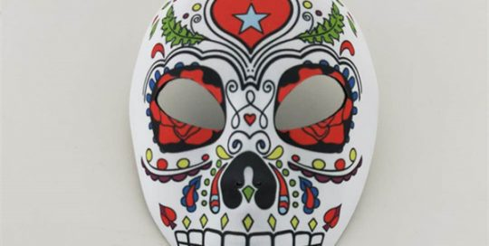 Day of The Dead Multicolor Mask Full Sugar Skeleton Full Face Masks