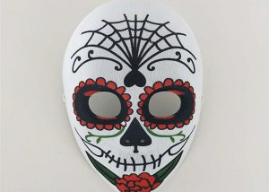 Spiderman Themed Day of The Dead Skull Mask Fancy Dress Accessory