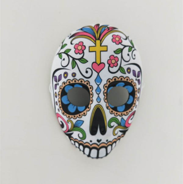 Jaw Drop Multicolor Mask Day of The Dead Sugar Skull Costume Mask