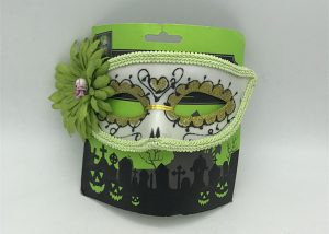 Black Green Glitter Eye Adult Eye Mask Day Of The Dead Halloween Mask