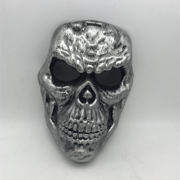 Skeleton Skull Horror Metalic Mask