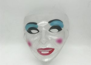 Halloween Feminine Transparent Mask Halloween Novelty Masks