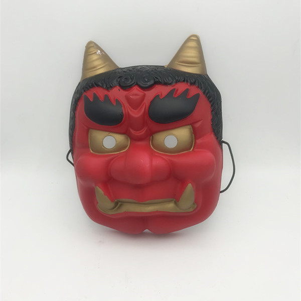 Red Face Devil W Horns Halloween Full Face Mask For Party Costume Mask