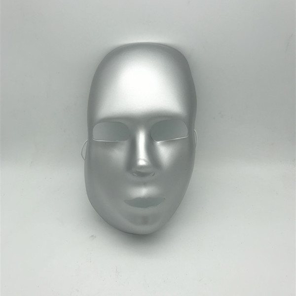 Silver Ghostly Mask Halloween Mask Party Costume Halloween Face Mask