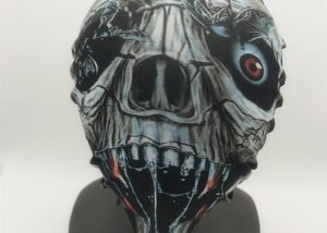 Cyborg Horror Halloween Black, Silver Mask Halloween Costume Mask