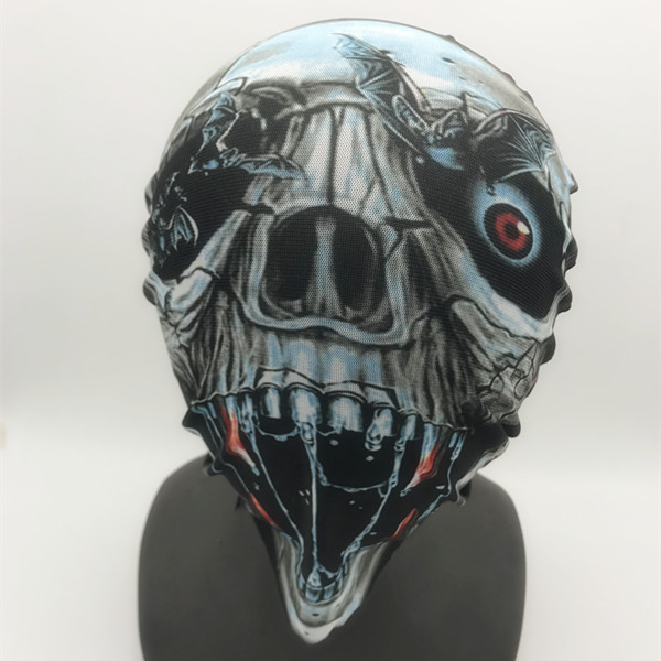 Cyborg Horror Halloween Black, Silver Mask Halloween Costume Mask