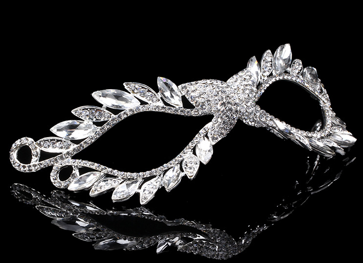 New Year And Bridal Wedding Crystal Diamante Eye Mask