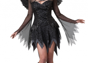 Devil Black Fallen Angel Dress For Women Halloween Costumes Cosplay Party