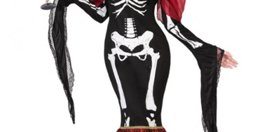 Halloween Bone Costume For Women Top Skirt Skeleton Costume Dress
