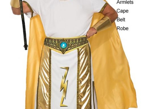 Men's Ancient Egypt Prince Of The Zeus Costumes White Golden One Size Halloween Dress Adult