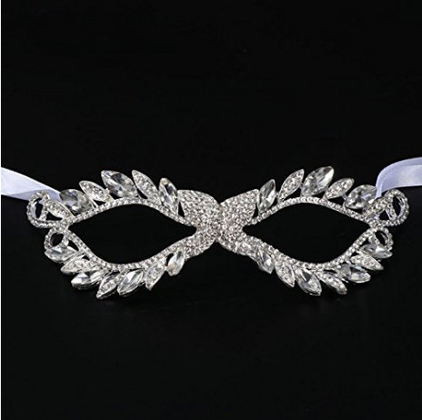 Stunning Bridal Wedding Crystal Diamante Eye Mask Masquerade For Party Prom