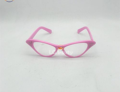 Rhinestone Cat Eye 50s Party Glasses For Men and Women