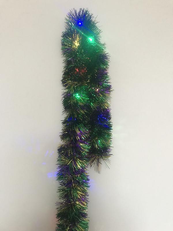 Shred LED Light Up Metallic Tinsel Garlands