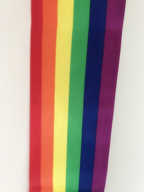 Rainbow Satin Sash-Details