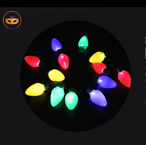 10 PCS Xmas LED Light Up Christmas Bulb Necklace