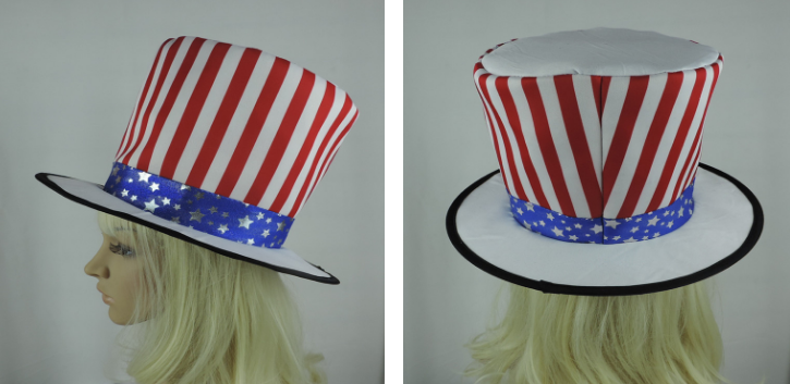 American Patriotic Fourth 4th of July USA Flag Independence Day Celebration Hat
