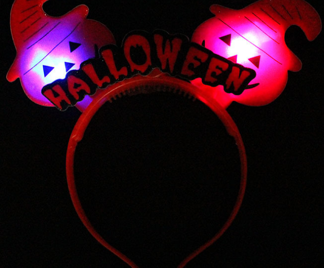Pumpkin LED Light Up Flashing Headband