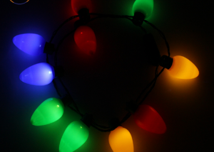 Xmas LED Light Up Christmas Bulb Necklace String Deco