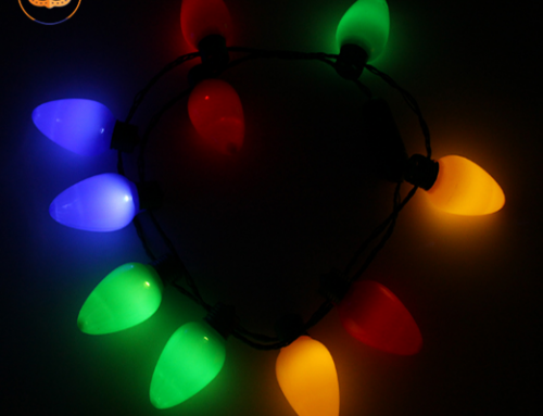 Xmas LED Light Up Christmas Bulb Necklace String Deco For Christmas