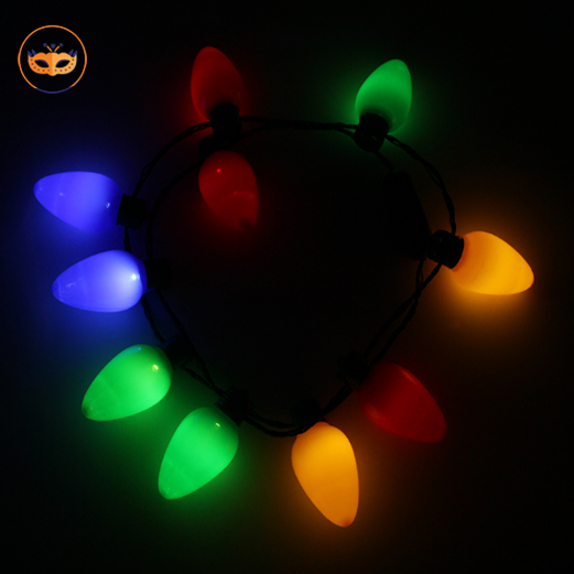 view larger image xmas led light up christmas bulb necklace string deco