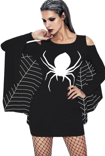 Black Women's Spider Web Dress