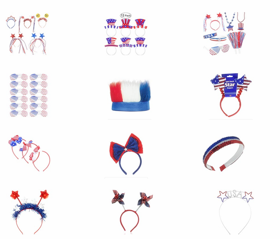 Patriotic Headband USA Party Supplies