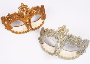 Masquerade Mask Venetian Lace Mask Craquel Mask