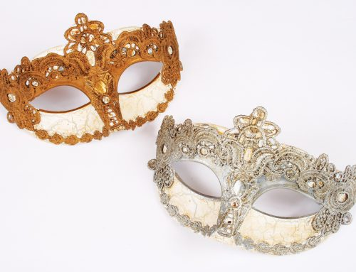 Venetian Masquerade Mask Glod Resin Mask With Diamond For Adult