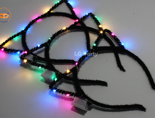 Light up Cat Ears Headbands LED Flashing Costume Kitty Ears
