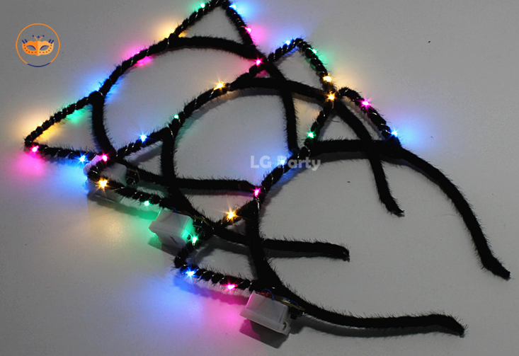 Cat Ears Headbands LED Light Up