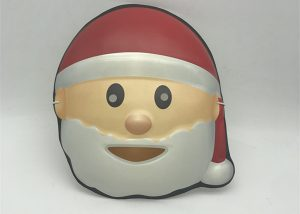 Christmas White Red Santa Eye Mask