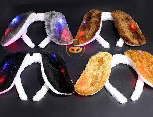 Puppy Dog Ear Headband LED Lighting Up Costume Accessories