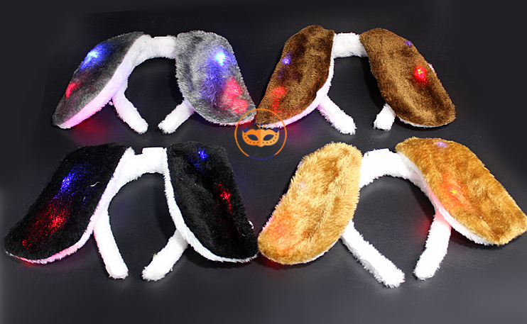 Puppy Dog Ear Headband LED Lighting Up Animal Headband