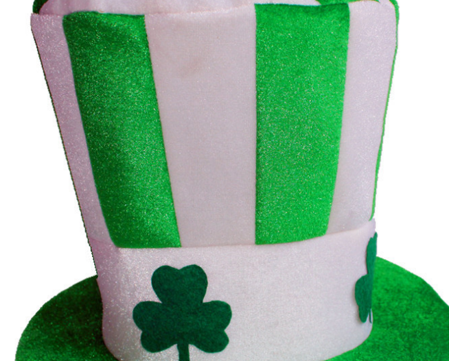 Velet Material-ST Patrick's Day Top Hats