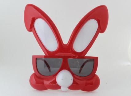 Angry Rabbit Plastic Novelty Eyeglasses