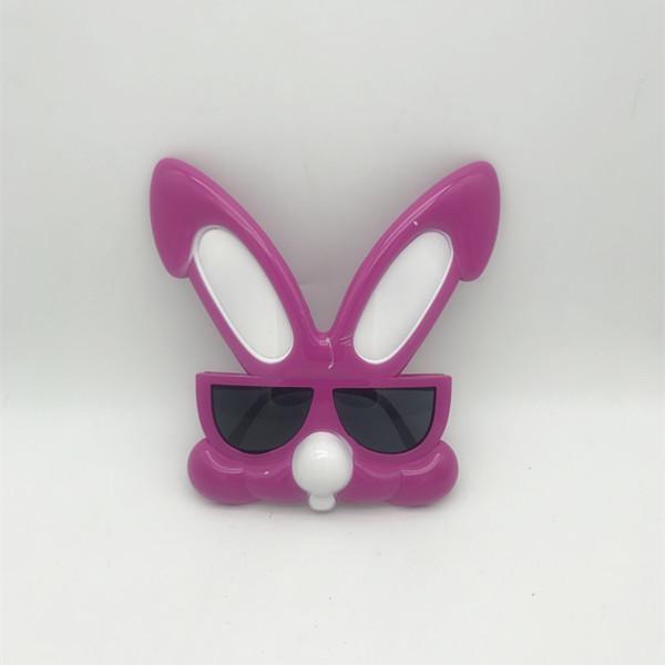 Dark Pink Rabbit Plastic Novelty Eyeglasses