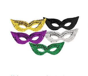 Costume Accessories Sequin Eye Mask, Green