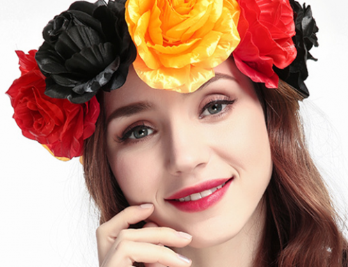 Patriotic Germany Flower Headband For Costume Headwear