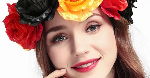 Patriotic Germany Flower Headband