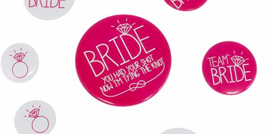 Hen Party Bride To Be Pink Badge Decoration Bridal Party Pins