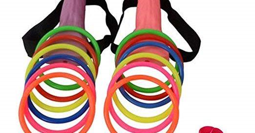 Bachelorette Party Favor Ring Toss Hoopla Games Set Hen Night Supplies
