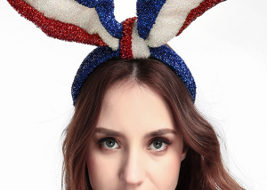 Patriotic Bunny Rabbit Earhair Band