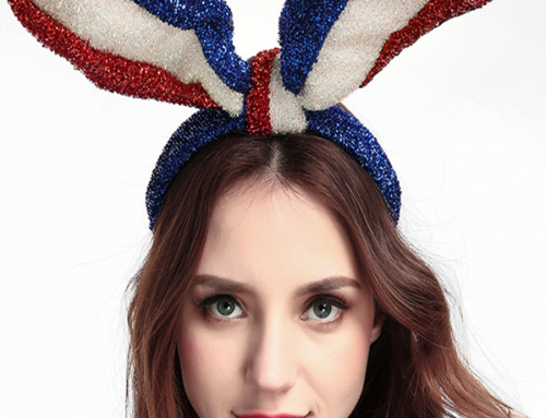 Patriotic Headband American Flag Headwear Bunny Rabbit Earhair Band