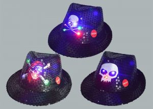 Skeleton Ghost LED Flashing Hat