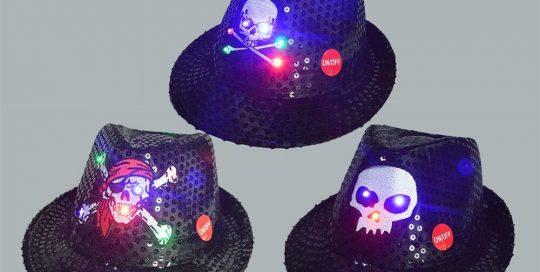 Skeleton Ghost LED Flashing Hat