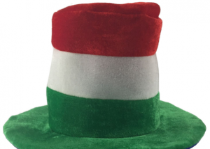 Saint Patrick Party Costume Headwear Hat Red White Green Irish Top Hat