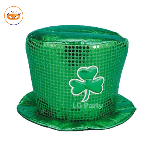Green St. Patrick Lucy Green Day Sequin Hat