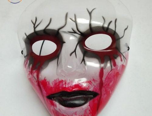 Spirit Ghost Festival Decoration Transparent Bloody Zombie Mask
